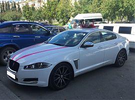 Аренда белого Yaguar XF в Екатеринбурге