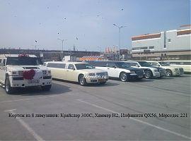 Кортеж из лимузинов в Екатеринбурге