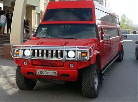Прокат лимузинов Екатеринбург: Красный Хаммер