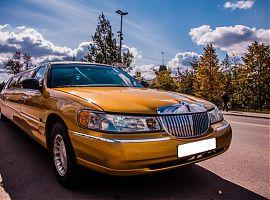 Аренда золотого лимузина в Екатеринбурге