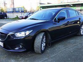 Заказ авто бизнес класса Мазда 6 чёрная в Екатеринбурге