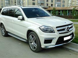 Заказ белого внедорожника Мерседес GL в Екатеринбурге
