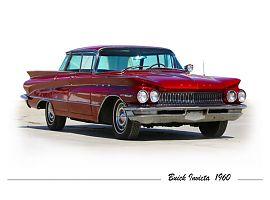 Аренда красного, бордового американского ретро автомобиля Buick