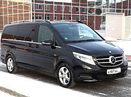 Чёрный минивен Mercedes V class Екатеринбург